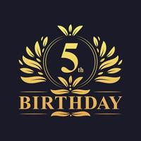 Goldenes Farbverlaufslogo zum 5. Geburtstag