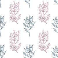 Vintage Botanical Plant Line Drawing Pattern