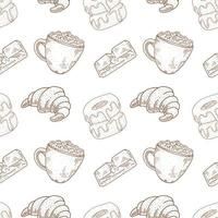 Coffee and Bakery Seamless Pattern
