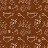 Coffee and Desserts Seamless Pattern