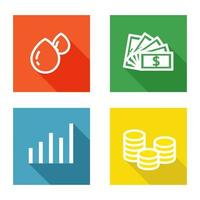 Square Investment icon set