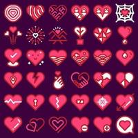 Love and heart icon ste vector