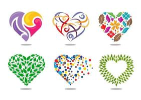 Different Styles of Hearts vector