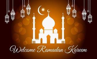 Welcome Ramadan Kareem vector