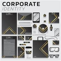 conjunto de identidade corporativa