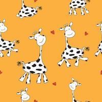 fundo engraçado dos desenhos animados girafa vetor