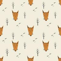 Funny Fox Cartoon Background vector