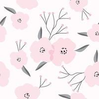Vintage Pink Floral Pattern vector