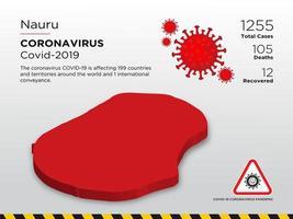 Nauru Affected Country Map of Coronavirus