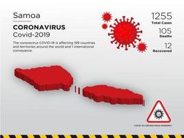 Samoa Affected Country Map of Coronavirus vector