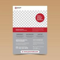 Red and Grey Medical Flyer Template