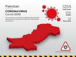 Pakistan Affected Country Map of Coronavirus vector