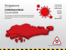 Singapore Affected Country of Coronavirus vector