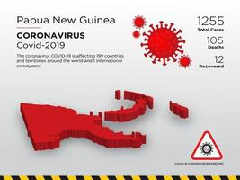 Papua New Guinea Affected Country Map of Coronavirus vector