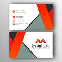 Grey Orange and White Modern Business Card Template  vector