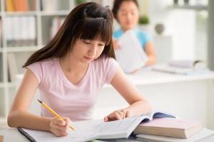 Studying girl photo