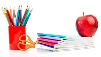 Schoolchild and student studies accessories.