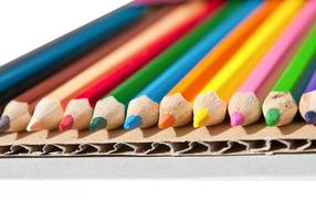 Colorful pencil crayons isolated