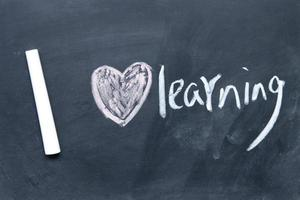 I love learning sign drawn with chalk on blackboard