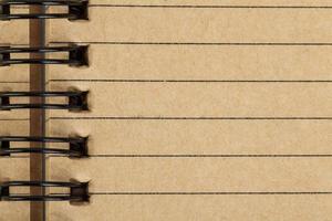 hoja de cuaderno hecha de papel reciclado como fondo