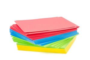 sheets of colorful paper