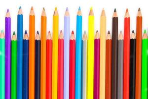 Colorful of color pencils