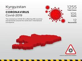 Kyrgyzstan Affected Country Map of Coronavirus