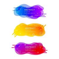 Colorful abstract liquid style banners
