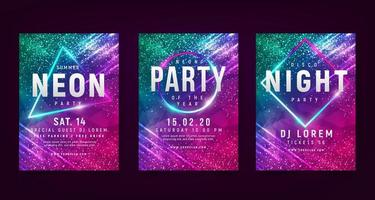 Colorful Sparkle Flyer Set vector