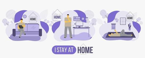 I Stay at Home Stay Safe Poster