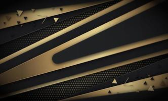 Black and Gold Diagonal V-Shapes Background