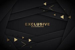 Layered Black Background with Gold Triangle Shapes