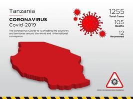 mapa del país afectado por coronavirus en tanzania