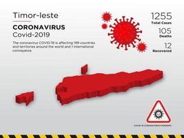 Timor-Leste Affected Country Map of Coronavirus