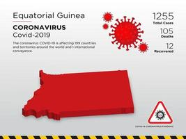 Equatorial Guinea Affected Country Map of Coronavirus