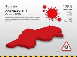 Tunisia Affected Country Map of Coronavirus Spread