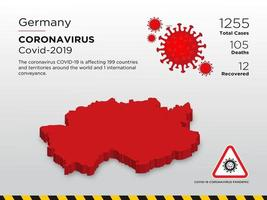 Germany Affected Country Map of Coronavirus  vector