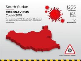 South Sudan Affected Country Map of Coronavirus