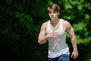 Fitness outdoors photo