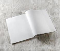 revista abierta en blanco