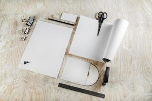 Blank stationery photo
