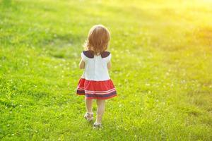 Free happy little girl