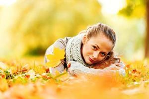 mujer otoño