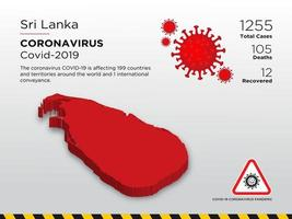 Sri Lanka Affected Country Map of Coronavirus Spread