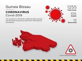 Guinea Bissau Affected Country Map of Coronavirus Spread