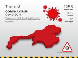 Thailand Affected Country Map of Coronavirus Spread