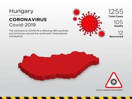 Carte du pays touché par la Hongrie sur la propagation du coronavirus