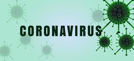 Horizontal Coronavirus Banner in Green Tones vector