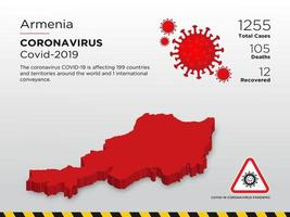 Armenia Affected Country Map of Coronavirus Spread