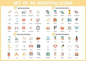 Set of 60 Health Care and Hospital Icons